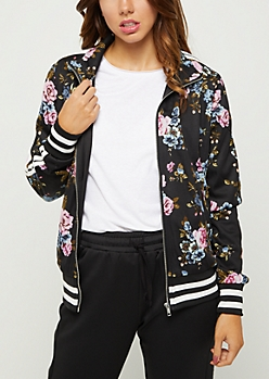 Wildflower Striped Track Jacket