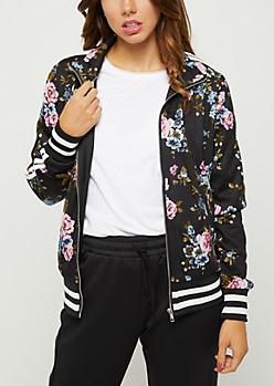 Wildflower Striped Track Jacket