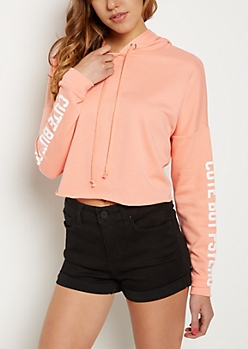 Cute But Psycho Crop Hoodie
