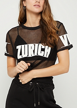 Zurich Mesh Patched Tee