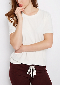 Ivory Soft Brushed Tunic Tee