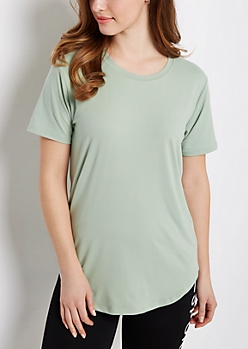 Mint Soft Brushed Tunic Tee