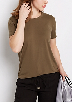 Olive Soft Brushed Tunic Tee