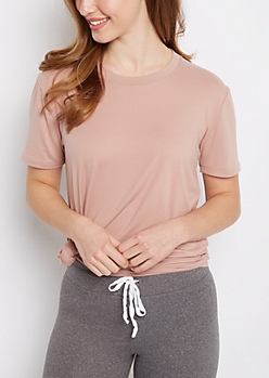 Pink Soft Brushed Tunic Tee