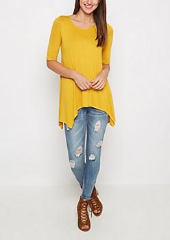 Mustard Solid Sharkbite Tee