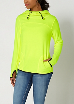 Neon Yellow Polar Fleece Hoodie