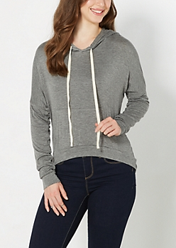Gray High-Low Hoodie