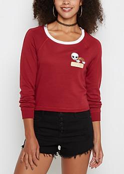 Alien Patch Cropped Sweatshirt