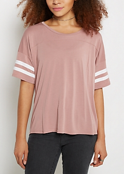 Pink Football Soft Knit Tee