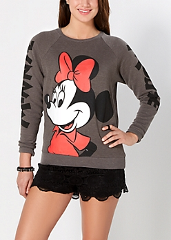Minnie Slash Back Sweatshirt