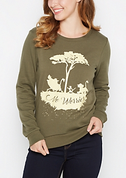 No Worries Lion King Fleece Sweatshirt