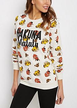Lion King Crew Neck Sweatshirt