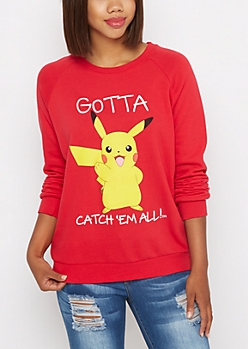 Pikachu Fleece Sweatshirt