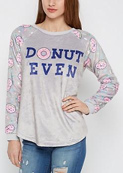 Donut Even Plush Shirt