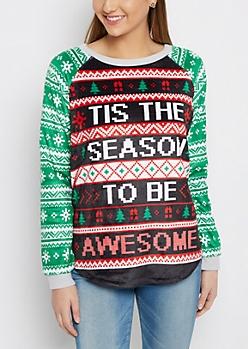 Tis The Season To Be Awesome Plush Shirt