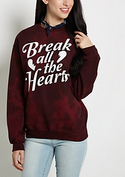 Break All The Hearts Fleece Sweatshirt