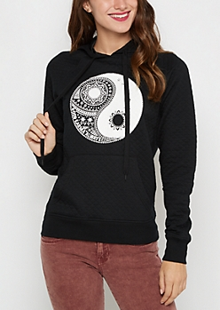 Yin Yang Quilted Hoodie