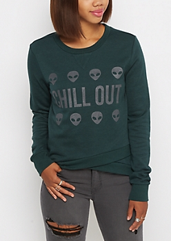 Chill Out Alien Tulip Sweatshirt