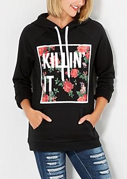 Killin' It Floral Hoodie