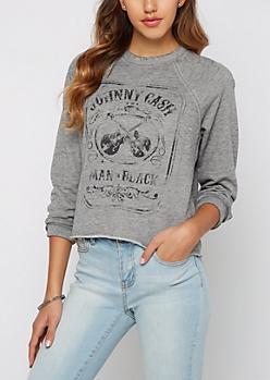 Johnny Cash Raglan Sweatshirt
