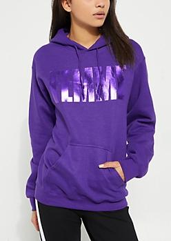 Purple Femme Fleece Hoodie