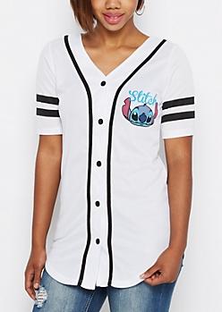 Stitch Striped Baseball Jersey