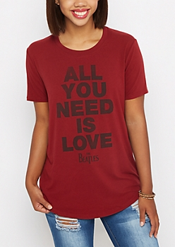 All You Need Is Love Soft Knit Tee