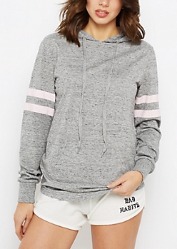 Heather Gray Marled Athletic Hoodie