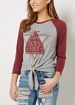 Wild Soul Knotted Baseball Tee