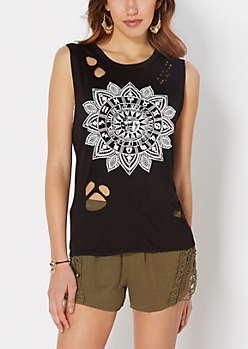 Zodiac Wheel Ripped Muscle Tank