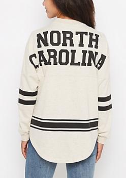 North Carolina Marled Drop Yoke Top