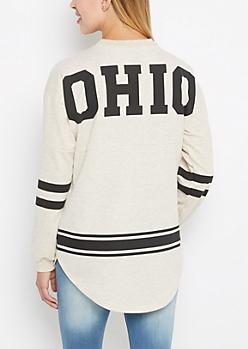 Ohio Marled Drop Yoke Top