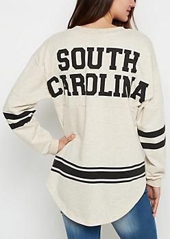 South Carolina Marled Drop Yoke Top