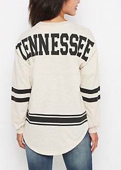 Tennessee Marled Drop Yoke Top