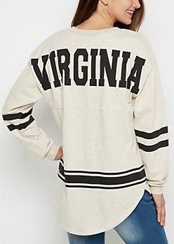 Virginia Marled Drop Yoke Top