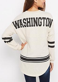 Washington Marled Drop Yoke Top