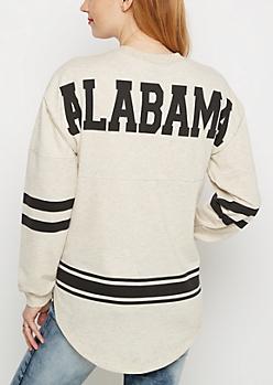 Alabama Marled Drop Yoke Top