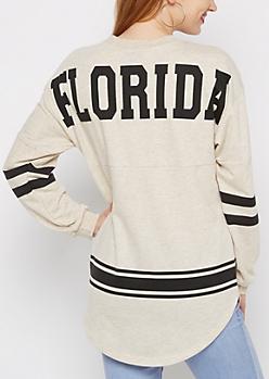Florida Love Rainbow Speckled Sweatshirt