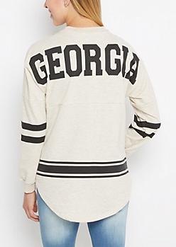 Georgia Marled Drop Yoke Top