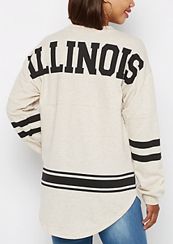 Illinois Love Rainbow Speckled Sweatshirt