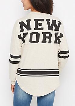 New York Marled Drop Yoke Top