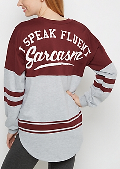Fluent Sarcasm Drop Yoke Sweatshirt