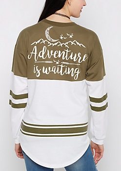 Adventure Is Waiting Drop Yoke Sweatshirt