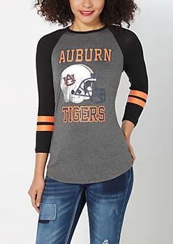 Auburn University Foiled Raglan Tee