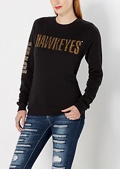 Iowa Hawkeyes Rhinestone Sweatshirt