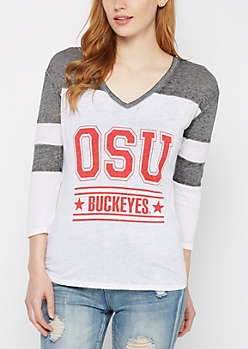 OSU Buckeyes Burnout Football Tee