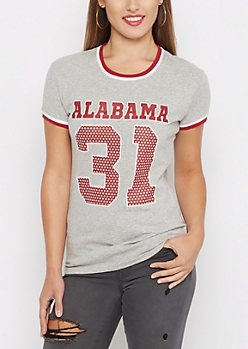 U of Alabama Polka Dot Varsity Tee