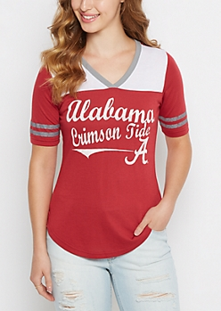 Alabama Crimson Tide Retro Football Tee