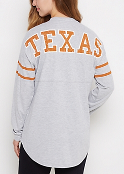 Texas Longhorns Drop Yoke Top