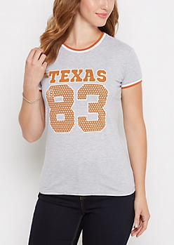 Texas Longhorns Football Ringer Tee